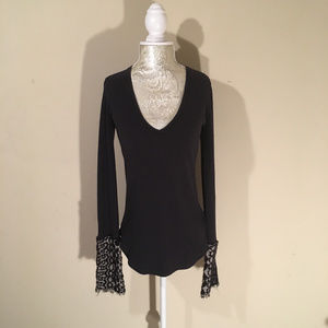 NWT Free People Thermal With Detailed Sleeve Size